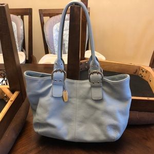 👩‍🦰 tignanello sky blue leather bag ❤️